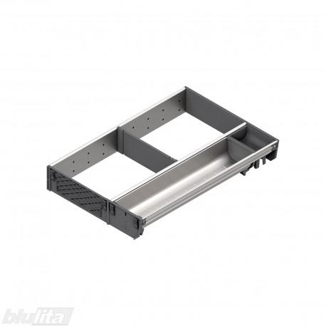 ORGA-LINE nerūdijančio plieno lovelių, pertvarų rinkinys, gylis 450 mm, KI3