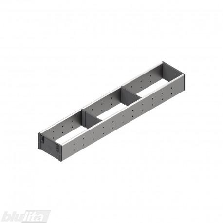 ORGA-LINE nerūdijančio plieno pertvarų rinkinys, gylis 600 mm, FI1