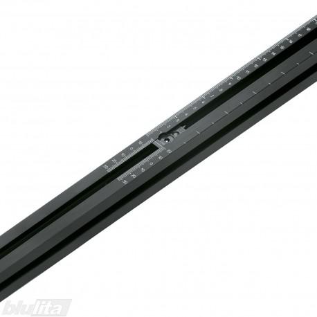 Staklių liniuotė dvipusė, ilgis 1250 mm, skalė 0-850 mm
