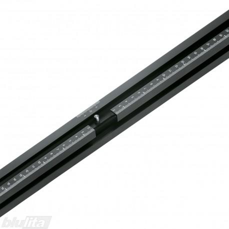 Liniuotė, ilgis 1700mm, skalė nuo 0–850mm į kairę ir dešinę