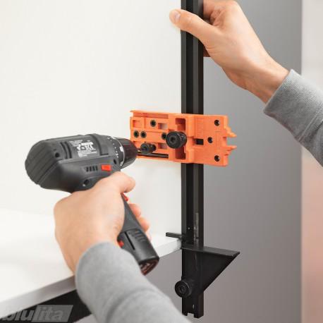 Strypinis šablonas lankstų matmenims perkelti, komplekte: 1000mm ilgio strypas, šablonai su žymekliais 2vnt., atrama