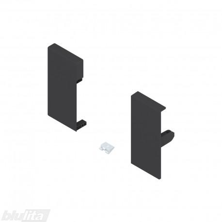 TANDEMBOX antaro vidinio stalčiaus fasado laikiklių komplektas, Kaukštis, juodos spalvos