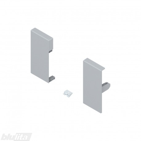 TANDEMBOX antaro vidinio stalčiaus fasado laikiklių komplektas, Kaukštis, pilkos spalvos
