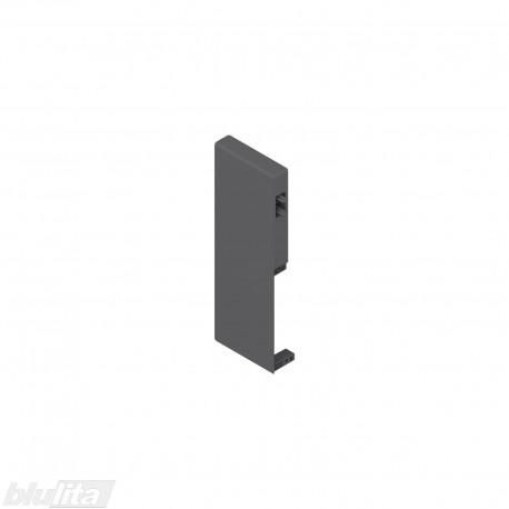 TANDEMBOX antaro vidinio stalčiaus fasado laikiklis, Caukštis, tamsiai pilkos spalvos, kairys