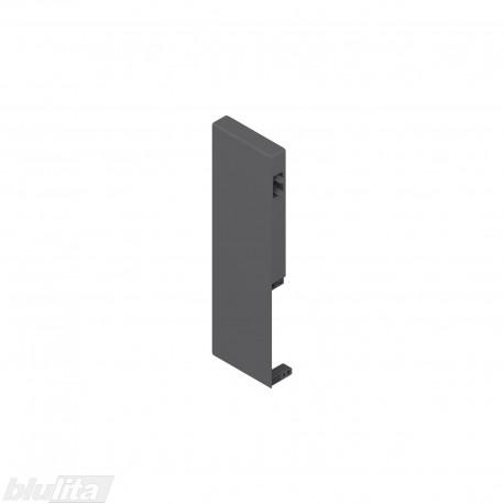 TANDEMBOX antaro vidinio stalčiaus fasado laikiklis, Daukštis, tamsiai pilkos spalvos, kairysis
