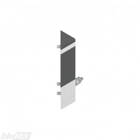 TANDEMBOX kampinio stalčiaus fasado laikiklis, Daukštis, tamsiai pilkos spalvos, dešinys