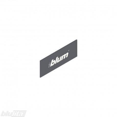 """TANDEMBOX intivo/antaro stalčių šonų dangtelis su Blum logotipu, tamsiai pilkos """"Orion"""" spalvos, simetriškas"""