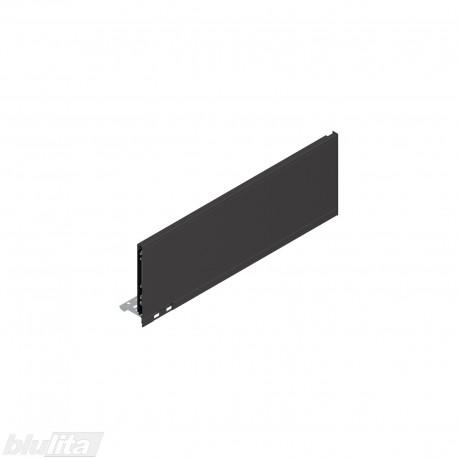 """LEGRABOX pure stalčiaus šonas 500mm, C aukštis, juodos """"Terra"""" spalvos"""
