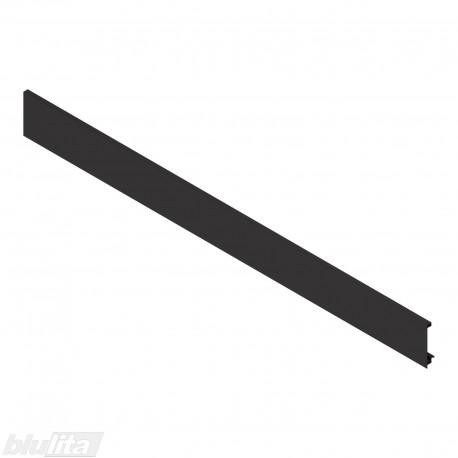 """LEGRABOX vidinio stalčiaus fasado profilis, ilgis1043 mm, be įlaidos, juodos """"Terra"""" spalvos, simetriškas"""