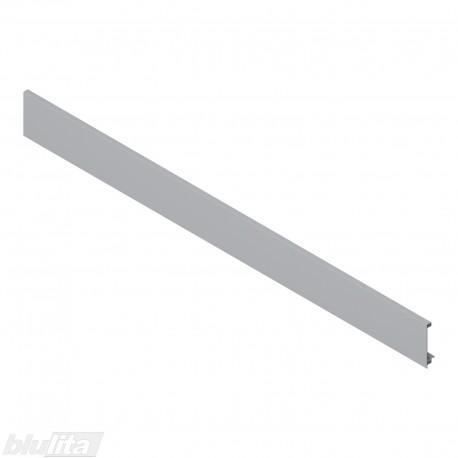 """LEGRABOX vidinio stalčiaus fasado profilis, ilgis1043 mm, be įlaidos, sidabrinės """"Polar"""" spalvos, simetriškas"""