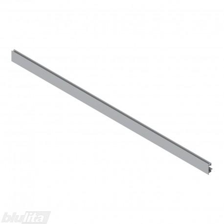 """LEGRABOX vidinio stalčiaus fasado profilis, ilgis1043 mm, su įlaida, sidabrinės """"Polar"""" spalvos, simetriškas"""