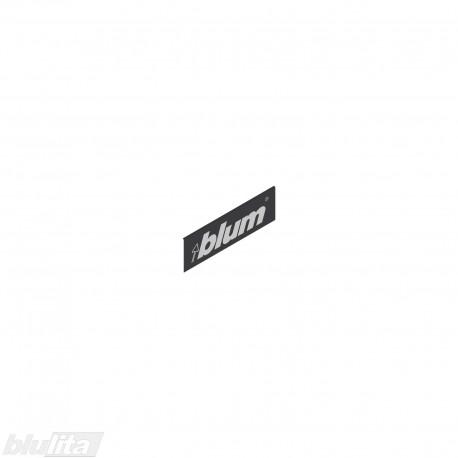 """LEGRABOX stalčių šonų dangtelis su Blum logotipu, išorinis, juodos """"Terra"""" spalvos, simetriškas"""