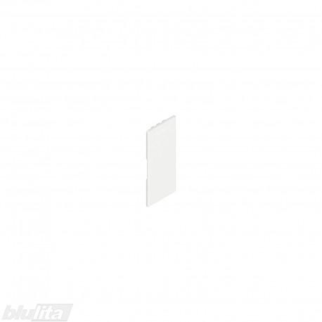 """LEGRABOX stalčių šonų dangtelis su Blum logotipu, vidinis, baltos """"Silk"""" spalvos, simetriškas"""
