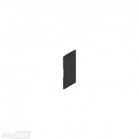 """LEGRABOX stalčių šonų dangtelis su Blum logotipu, vidinis, juodos """"Terra"""" spalvos, simetriškas"""
