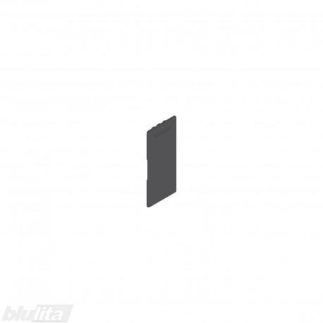 """LEGRABOX stalčių šonų dangtelis su Blum logotipu, vidinis, tamsiai pilkos """"Orion"""" spalvos, simetriškas"""