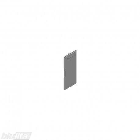 """LEGRABOX stalčių šonų dangtelis su Blum logotipu, vidinis, nerūd. plieno """"Inox"""" spalvos, simetriškas"""