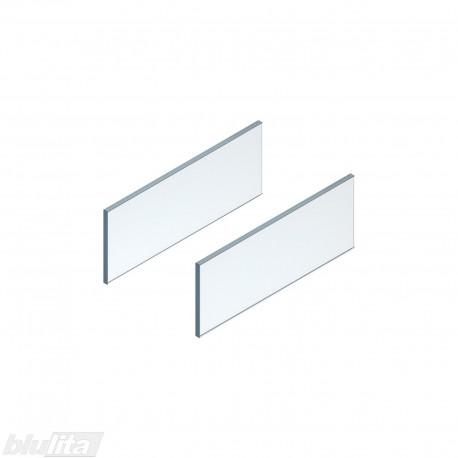 LEGRABOX free stalčiaus šono dizaino elementai450mm stalčiui, skaidrus stiklas, pora