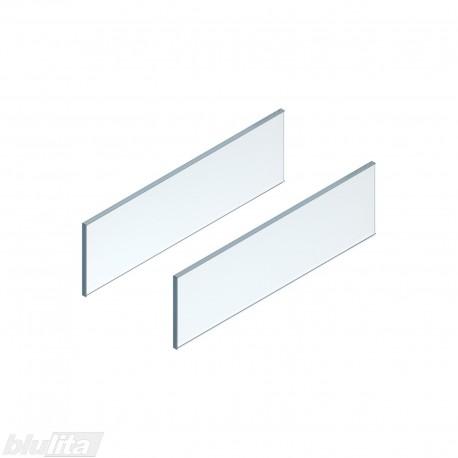 LEGRABOX free stalčiaus šono dizaino elementai550mm stalčiui, skaidrus stiklas, pora