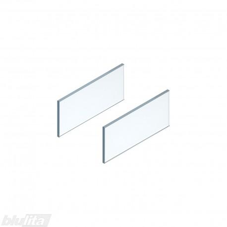 LEGRABOX free stalčiaus šono dizaino elementai400mm stalčiui, skaidrus stiklas, pora