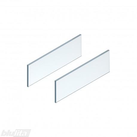 LEGRABOX free stalčiaus šono dizaino elementai500mm stalčiui, skaidrus stiklas, pora