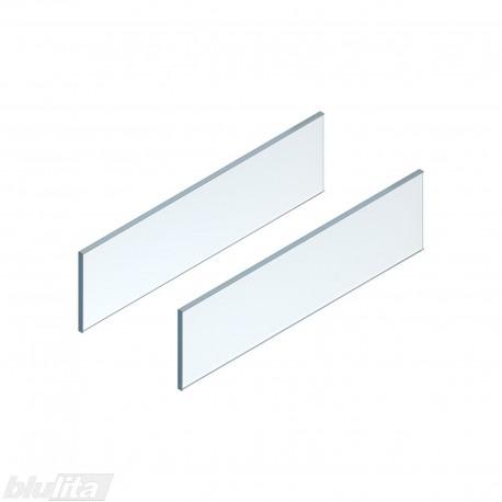 LEGRABOX free stalčiaus šono dizaino elementai600mm stalčiui, skaidrus stiklas, pora