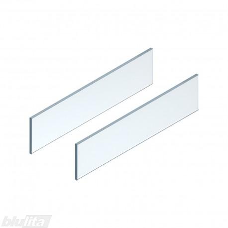 LEGRABOX free stalčiaus šono dizaino elementai650mm stalčiui, skaidrus stiklas, pora