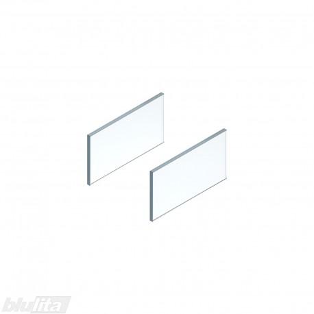 LEGRABOX free stalčiaus šono dizaino elementai350mm stalčiui, skaidrus stiklas, pora