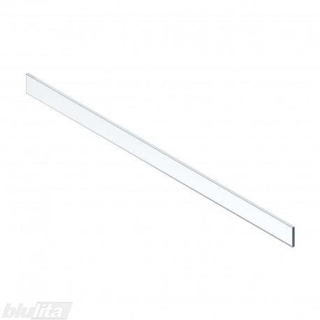 LEGRABOX vidinio stalčiaus žemas dizaino elementas, 1200mm pločio fasadui, skaidrus stiklas