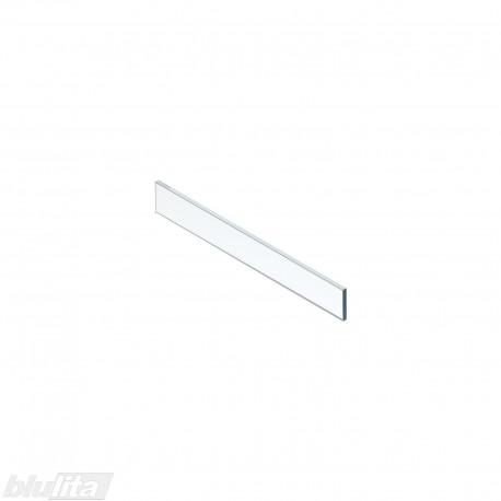 LEGRABOX vidinio stalčiaus žemas dizaino elementas,600mm pločio fasadui, skaidrus stiklas