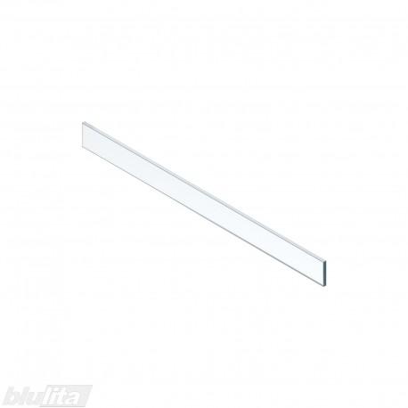 LEGRABOX vidinio stalčiaus žemas dizaino elementas,900mm pločio fasadui, skaidrus stiklas