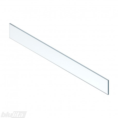 LEGRABOX vidinio stalčiaus aukštas dizaino elementas, 1200mm pločio fasadui, skaidrus stiklas