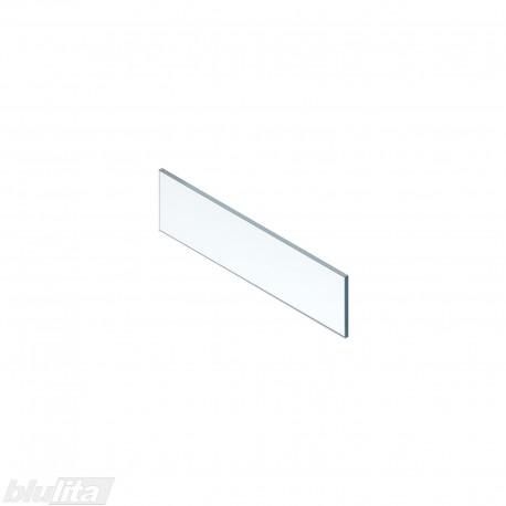 LEGRABOX vidinio stalčiaus aukštas dizaino elementas,600mm pločio fasadui, skaidrus stiklas