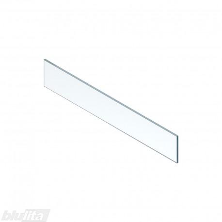 LEGRABOX vidinio stalčiaus aukštas dizaino elementas,900mm pločio fasadui, skaidrus stiklas