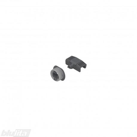 LEGRABOX rankenėlė vidiniam Mstalčiui, su fiksacija, pilkos spalvos