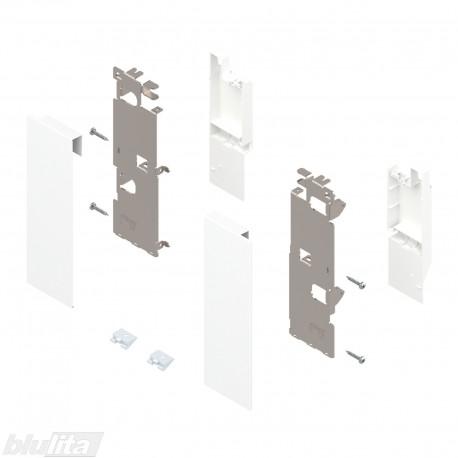 """LEGRABOX vidinio stalčiaus fasado laikiklių komplektas, be įlaidos, Caukštis, baltos """"Silk"""" spalvos"""