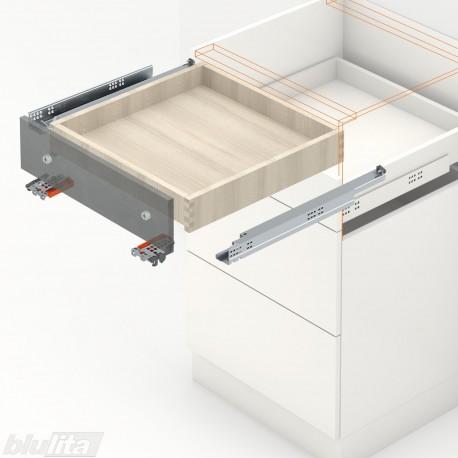 TANDEM plus BLUMOTION komplektas tvirtinamas laikikliais, išoriniam stalčiui, NL300mm, 30kg, pilno ištraukimo