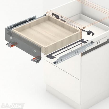 TANDEM plus BLUMOTION komplektas tvirtinamas laikikliais, išoriniam stalčiui, NL250mm, 30kg, pilno ištraukimo