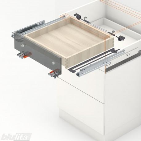 TANDEM BLUMOTION komplektas tvirtinamas laikikliais, išoriniam stalčiui, NL300mm, 30kg, dalinio ištraukimo