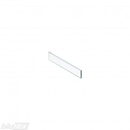 LEGRABOX vidinio stalčiaus žemas dizaino elementas, 450 mm pločio fasadui, skaidrus stiklas
