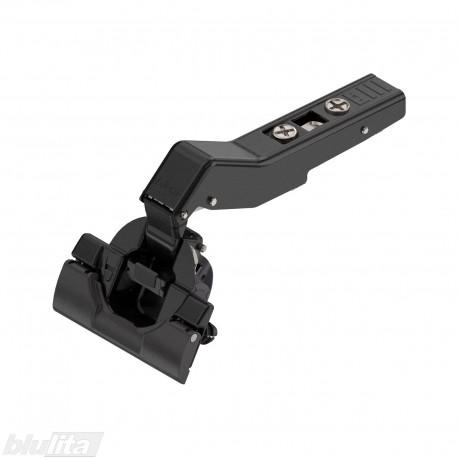 """CLIP top BLUMOTION +45°II lankstas, su spyruokle, kampinis, INSERTA, juodos """"Onyx"""" spalvos"""
