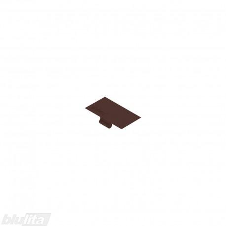 Lentyninės sąvaržos (40.4001) dangtelis su logotipu Blum, rudos spalvos
