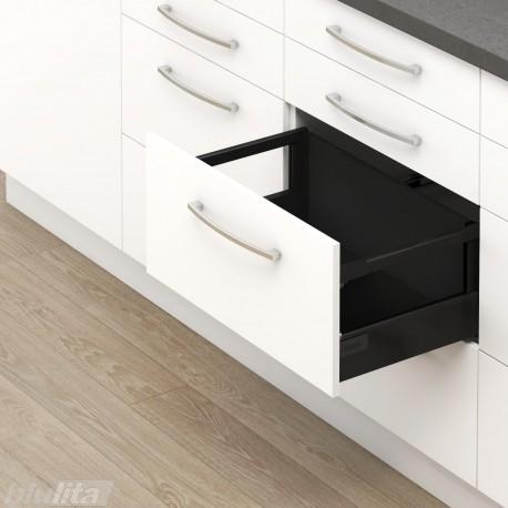 TANDEMBOX antaro D stalčiaus komplektas su dizaino elemento laikikliais, juodas