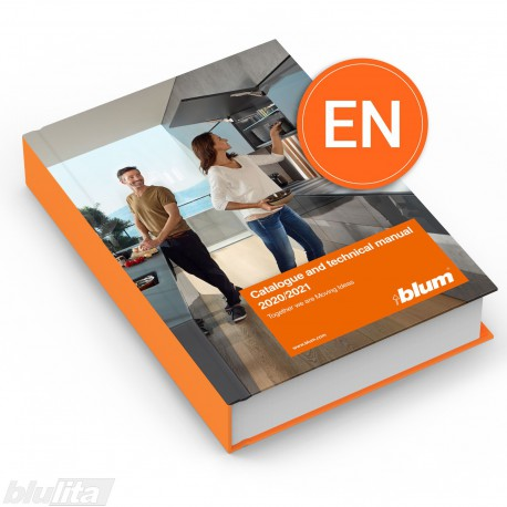 Blum produktų katalogas 2020/2021m. su techninėmis, naudojimo instrukcijomis, anglų kalba