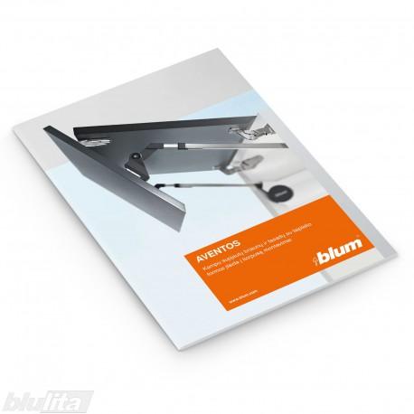 Brošiūra – AVENTOS kampu supjautų briaunų ir fasadų su laiptelio formos įlaida į korpusą montavimai