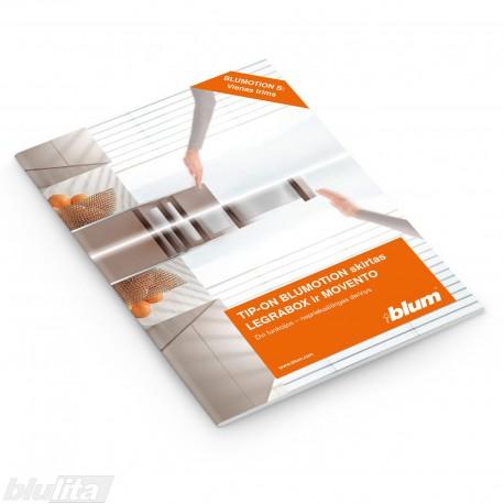 Brošiūra – TIP-ON BLUMOTION skirtas LEGRABOX ir MOVENTO