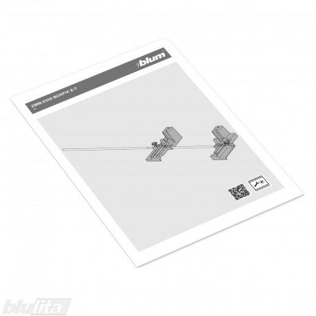 Instrukcijos – ZMM.0350 BOXFIX E-T šablonas