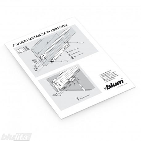 Instrukcijos – METABOX BLUMOTION montavimas