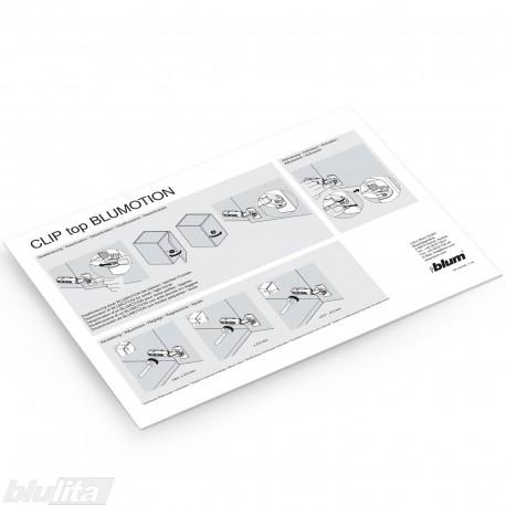 Instrukcijos – CLIP top BLUMOTION išjungimas ir reguliavimas