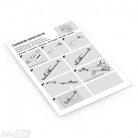 Instrukcijos – TANDEM 550H/551H šoninis stabilizatorius