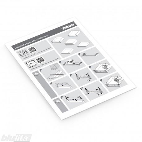 Instrukcijos – LEGRABOX pure vidiniai stalčiai